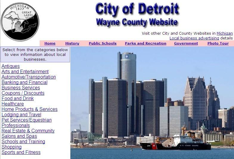 Wayne County and Detroit Website - CountyWebsite.com