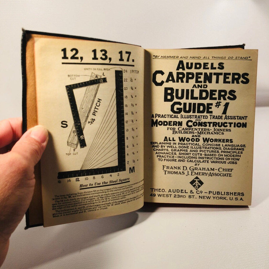 Audels Carpenters and Builders Guide Books 1, 2, and 3 Published the Theo. Audel Company 1947