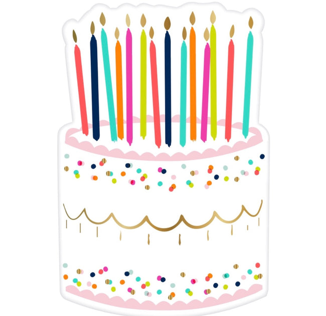 birthday cake napkins with sprinkles and candles perfect for birthday personalized box
