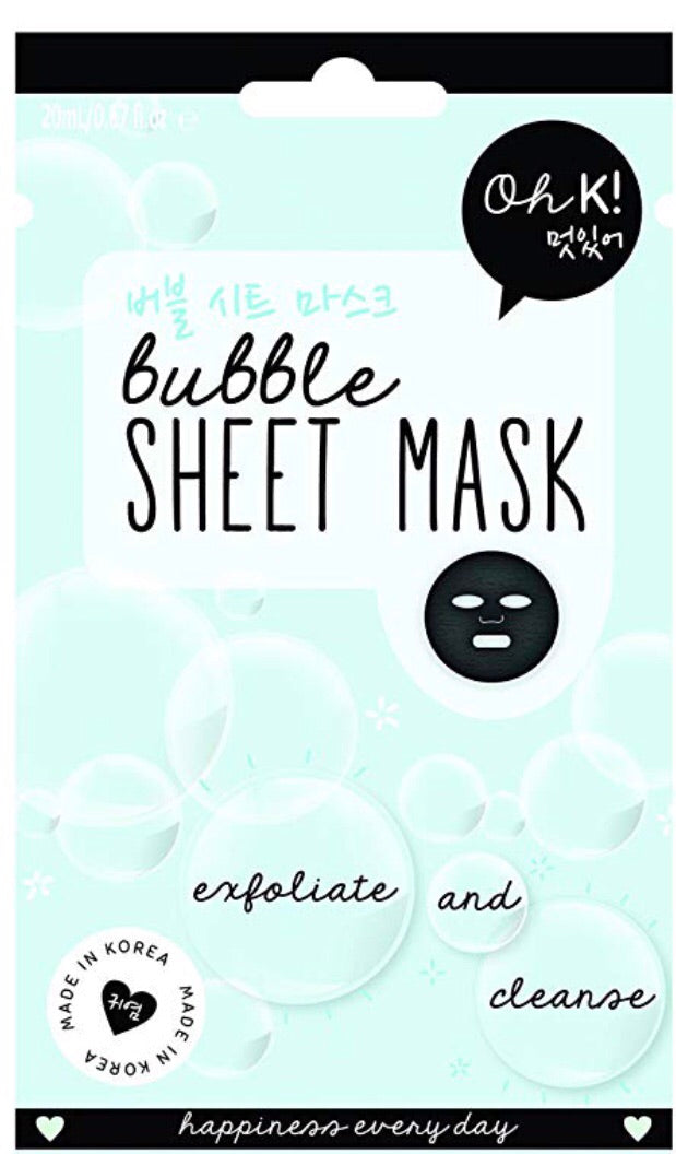 bubble sheet mask from Oh K!