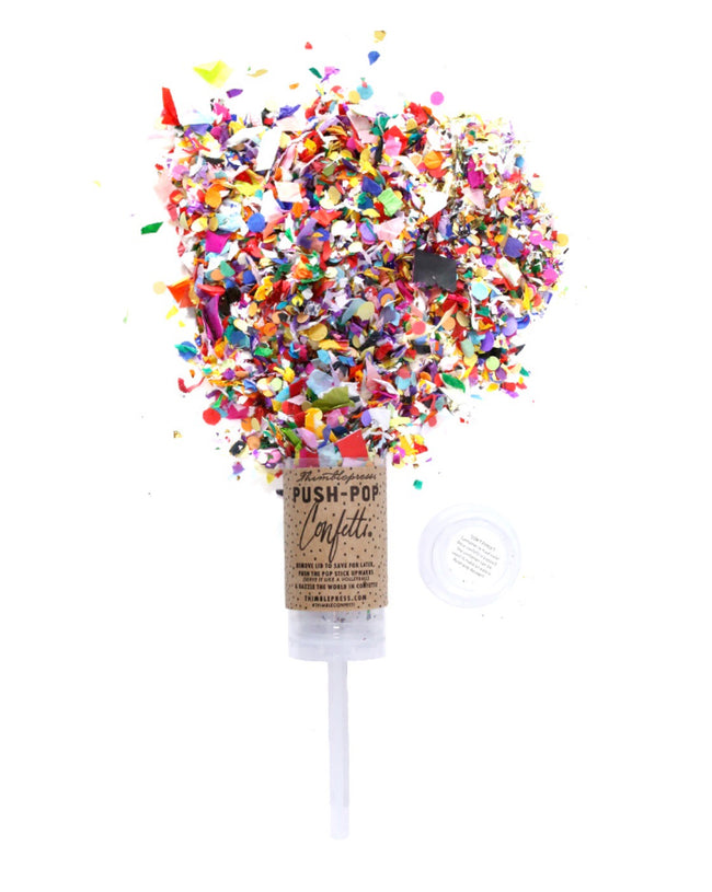 happy birthday push pop confetti