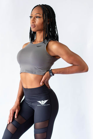 Phenom Crop Tops - GRAY