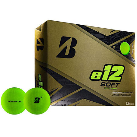 Bridgestone 2019 e12 SOFT Golf Balls Dozen Matte Green - Golf Country Online
