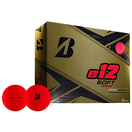 Bridgestone 2019 e12 SOFT Golf Balls Dozen Matte Red - Golf Country Online