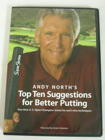 Andy North's TOP TEN SUGGESTIONS FOR BETTER PUTTING - DVD Sealed - Golf Country Online