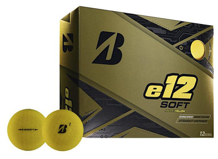 Bridgestone 2019 e12 SOFT Golf Balls Dozen Matte Yellow - Golf Country Online