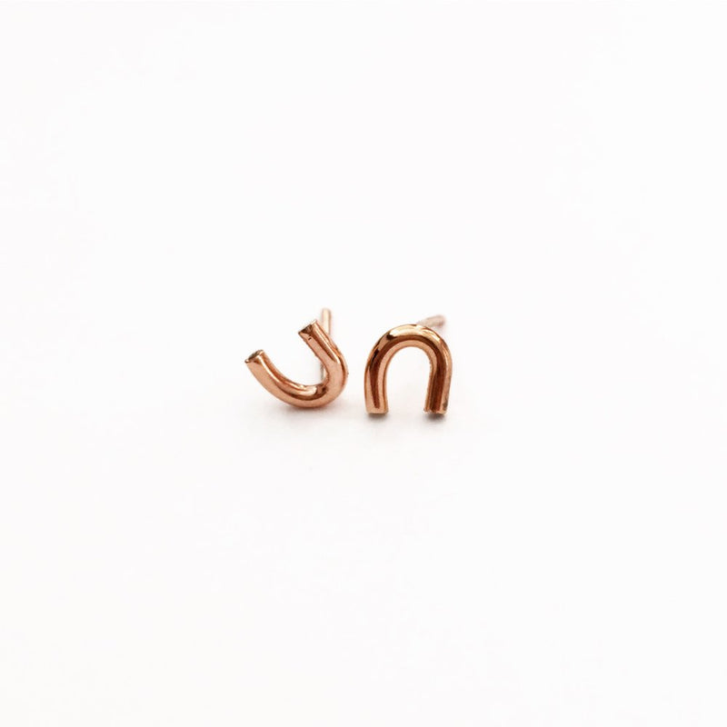 Hey U studs 14k rose gold fill agapantha jewelry.jpeg
