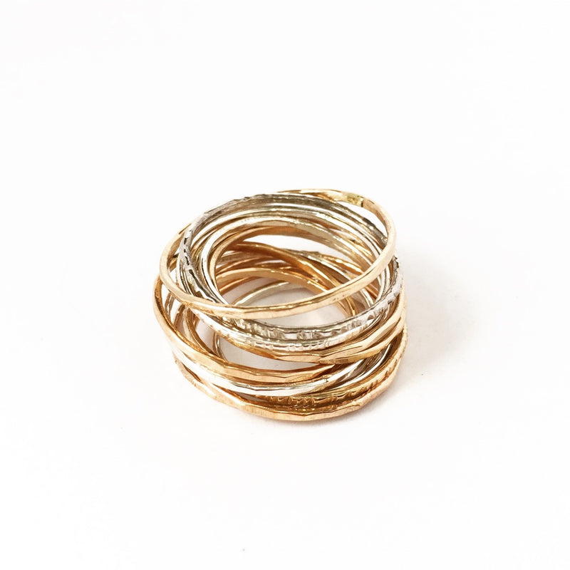 stacking bands ring stack 14k gold fill sterling silver agapantha jewelry.JPG