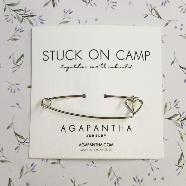 Stuck on Camp - Heart Safety Pin