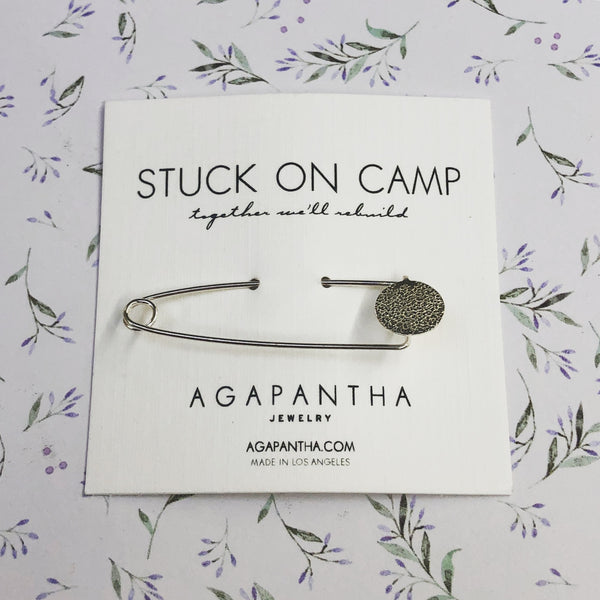 Stuck on Camp - Glitter Bomb Safety Pin