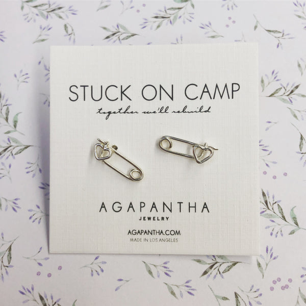 Stuck on Camp  - Safety Pin Studs