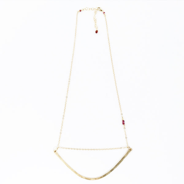 Samantha arc necklace short version white background agapantha jewelry 14k gold fill.JPG