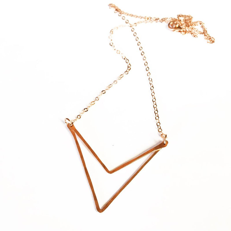 Sari Rose Gold Fill triangle necklace Agapantha Jewelry.JPG