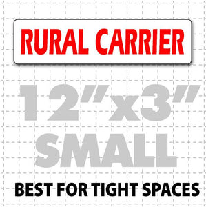 "Rural Carrier Magnetic Sign 12""X3"" - Wholesale Magnetic Signs"