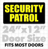 Security Patrol magnetic sign for homes businesses or security guards that stick security cars. Easy install security magnets
