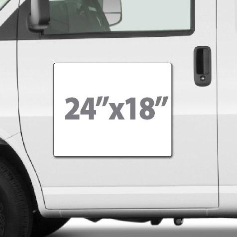 "Large magnetic sign for trucks custom made using your design. High quality 24x18"" size custom magnet fits truck or van door."