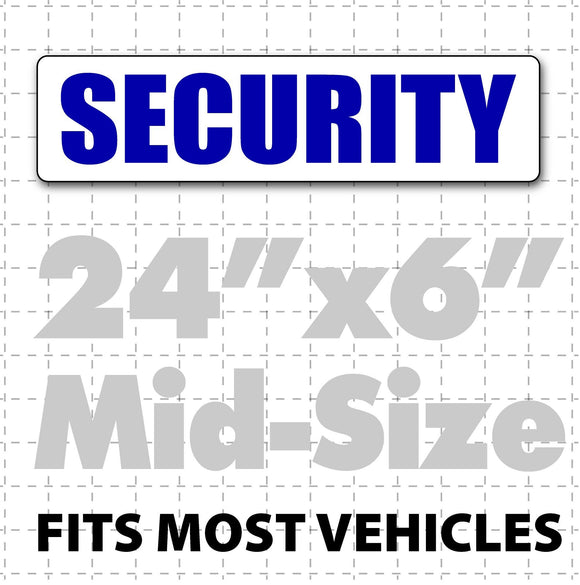 Magnetic Security Sign for vehicles 24