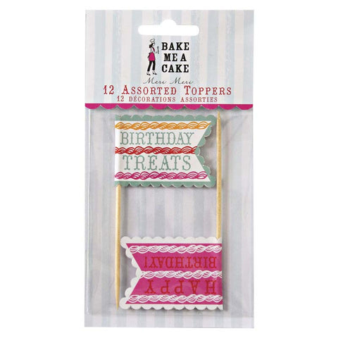 Meri Meri Birthday Treats Flag Toppers Australia