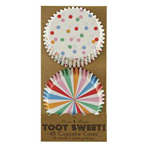 Meri Meri Toot Sweet Multi-Coloured Baking Cups