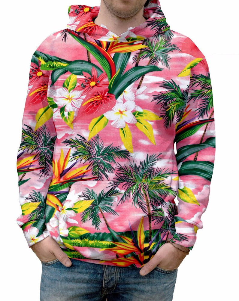 Fijian Sunset Floral Print Hoodie embraces the warmth of the soft fabric. It almost feels like you are in Fiji