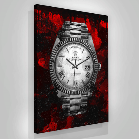 Black Red Luxury Watch - Iceberg Of Success