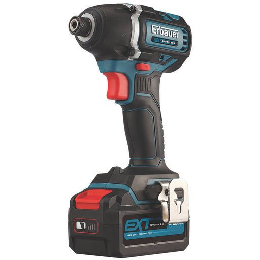 Erbauer EXT Cordless 18V 1 x 4Ah Lithium-ion EID18-Li Hammer Drill & Screwdriver - Image 1