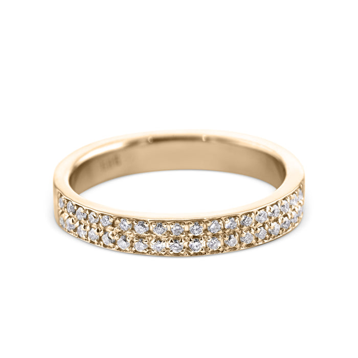 0.2 Carat Diamond Wedding Band - 18K Yellow Gold Channel Setting #717W_RDY2