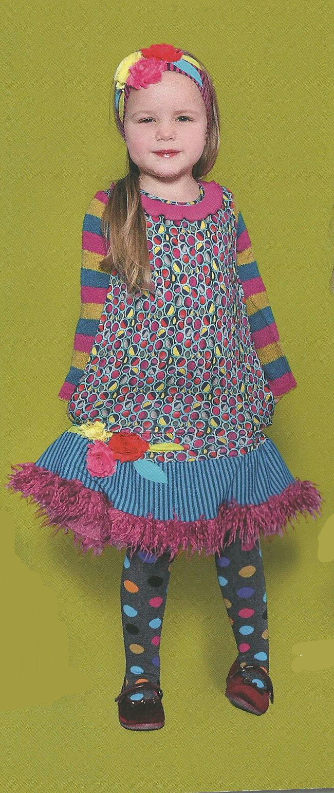 ALBERTINE FUZZY FLOWER DRESS