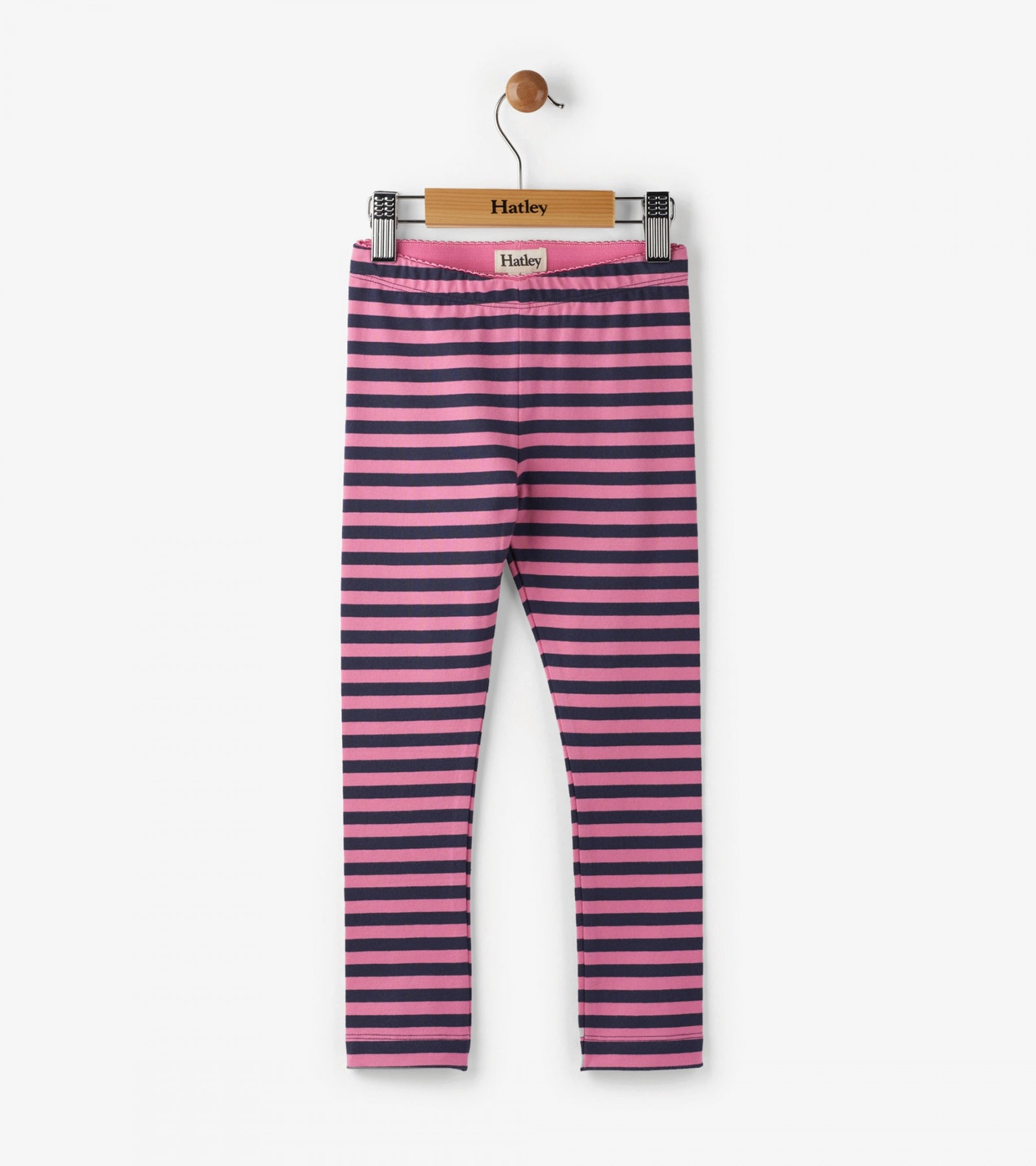 Pink Charcoal Stripes Leggings