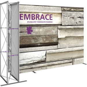 11 Ft. Embrace L-shape Full Height Single Sided Front Graphic Trade Show Display Without End Caps - Right Side