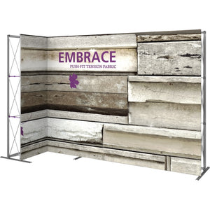 11 Ft. Embrace L-shape Full Height Single Sided Front Graphic Trade Show Display Without End Caps - Left Side