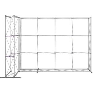 11 Ft. Embrace L-shape Full Height Single Sided Front Graphic Trade Show Display Without End Caps - Frame Only