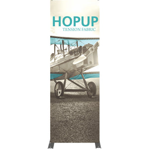 Straight HopUp Trade Show Display Without End Caps - Front View