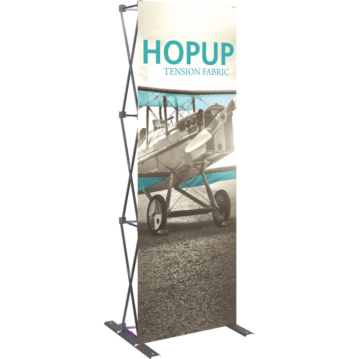 3 Ft.  x 8 Ft. (1 x 3 Quad) Straight HopUp Trade Show Display Without End Caps