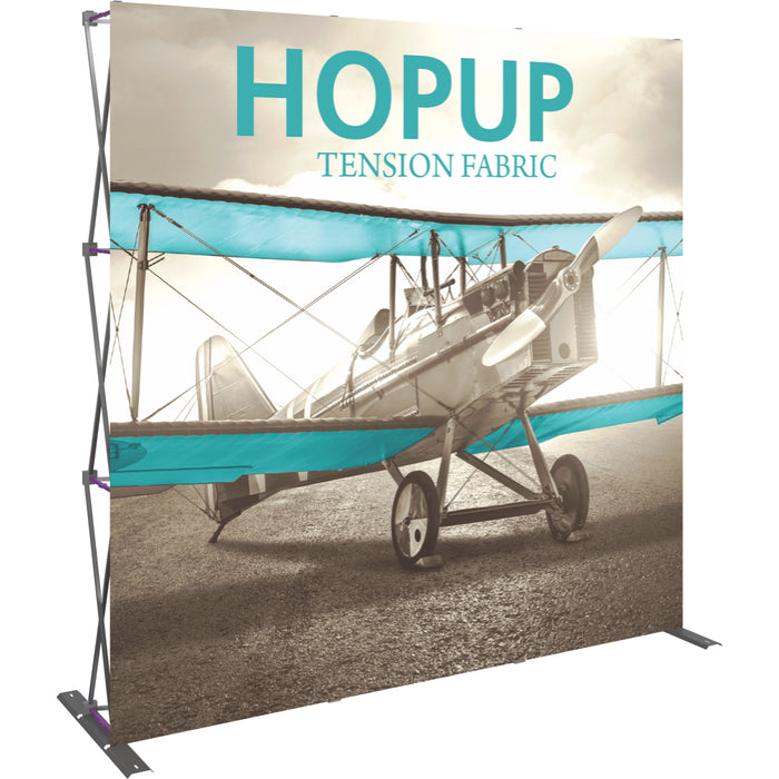 8 Ft. (3 x 3 Quad) Straight HopUp Trade Show Display Without End Caps