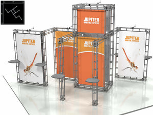 Jupiter Express 20' x 20' Truss Trade Show Display Booth
