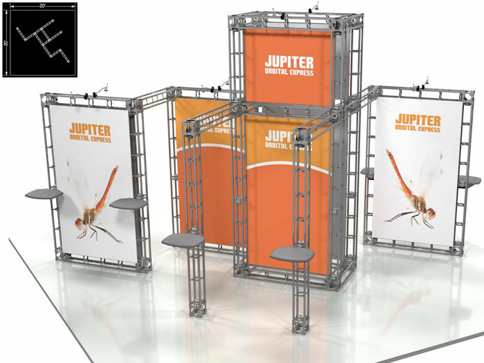 Jupiter Orbital Express 20' x 20' Truss Trade Show Display Booth