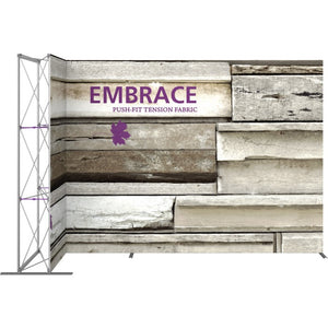 11 Ft. Embrace L-shape Full Height Single Sided Front Graphic Trade Show Display Without End Caps - Front