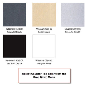 XRW.0.V XRline 10' x 10' Trade Show Display - Counter Top Color Swatch