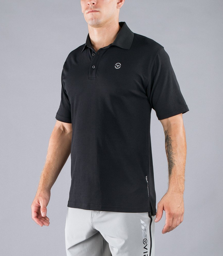 MEN'S STAY COOL FUNCTIONAL FIT POLO V2 / BLACK