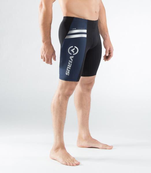 MEN'S STAY COOL COMPRESSION V2 TECH SHORTS (CO13)- NAVY/BLACK