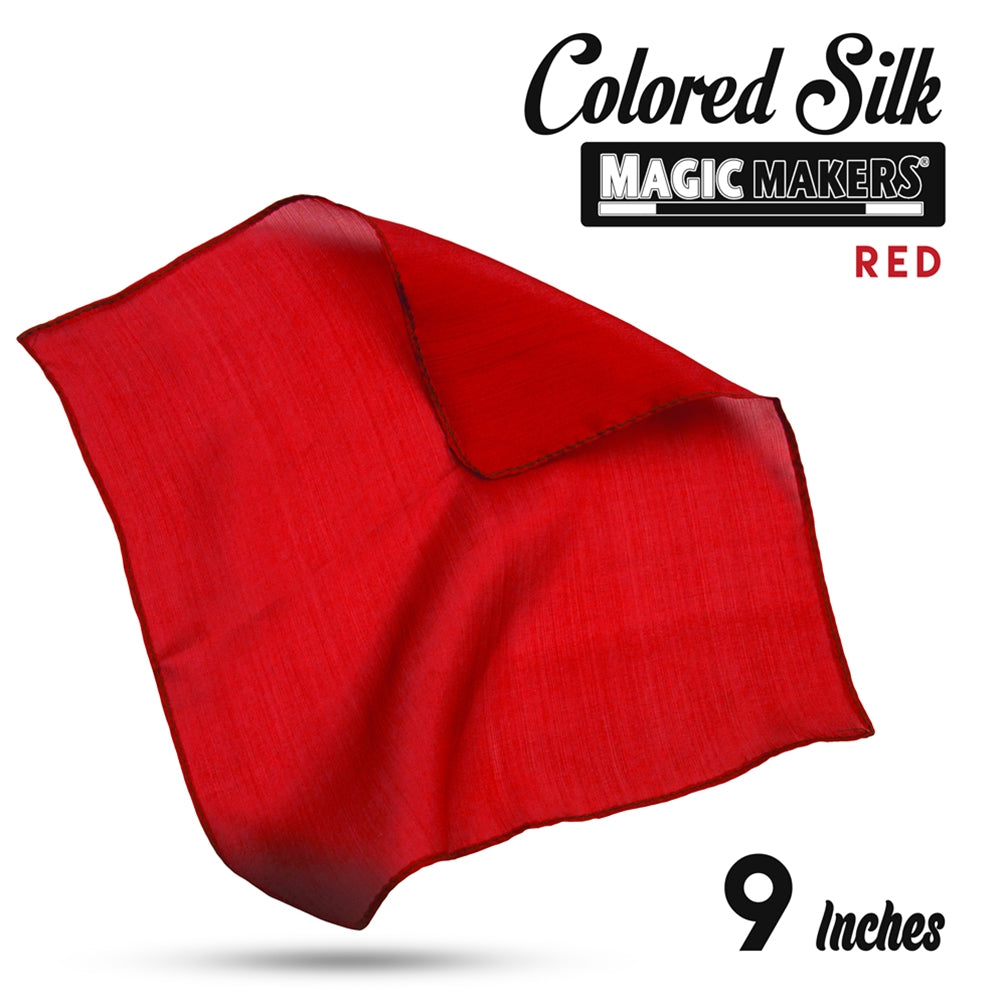 Red 9 inch Colored Silk SINGLE