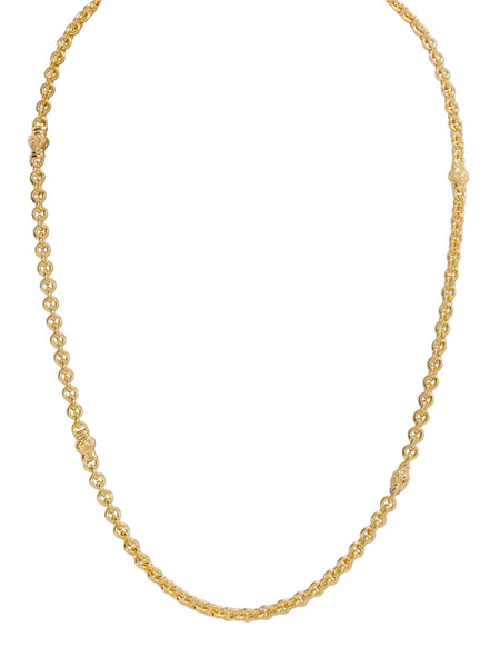 Small Link Chain Necklace - Gold