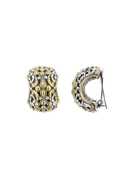 Twisted Bead Collection Large Wide Clip Earrings