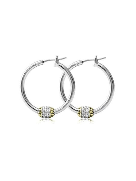Pavé Beaded Hoop Earrings by John Medeiros Jewelry Collections
