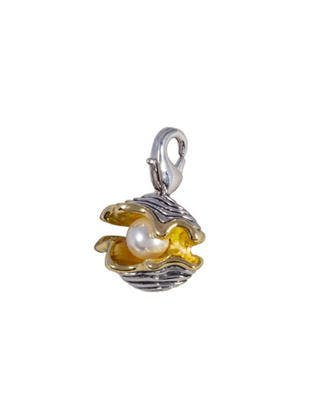 "Ocean Images Collection ""Pearl in Shell"" Clip Charm"
