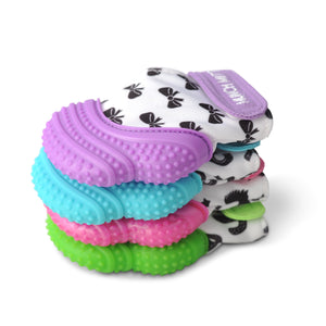 MUNCH MITT THE ORIGINAL MOM INVENTED HAND HELD TEETHER.  100% FOOD-GRADE SILICONE. HELPS BABY WITH SELF SOOTHING