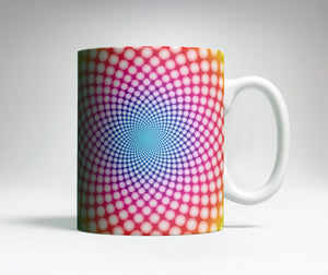 Colorful Spiral Optical Illusion Mug