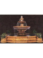 Grande Palazzo Fluted Outdoor Water Fountain - Soothing Company