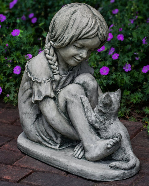 Purrfect Friends Cast Stone Garden Statue - Soothing Company